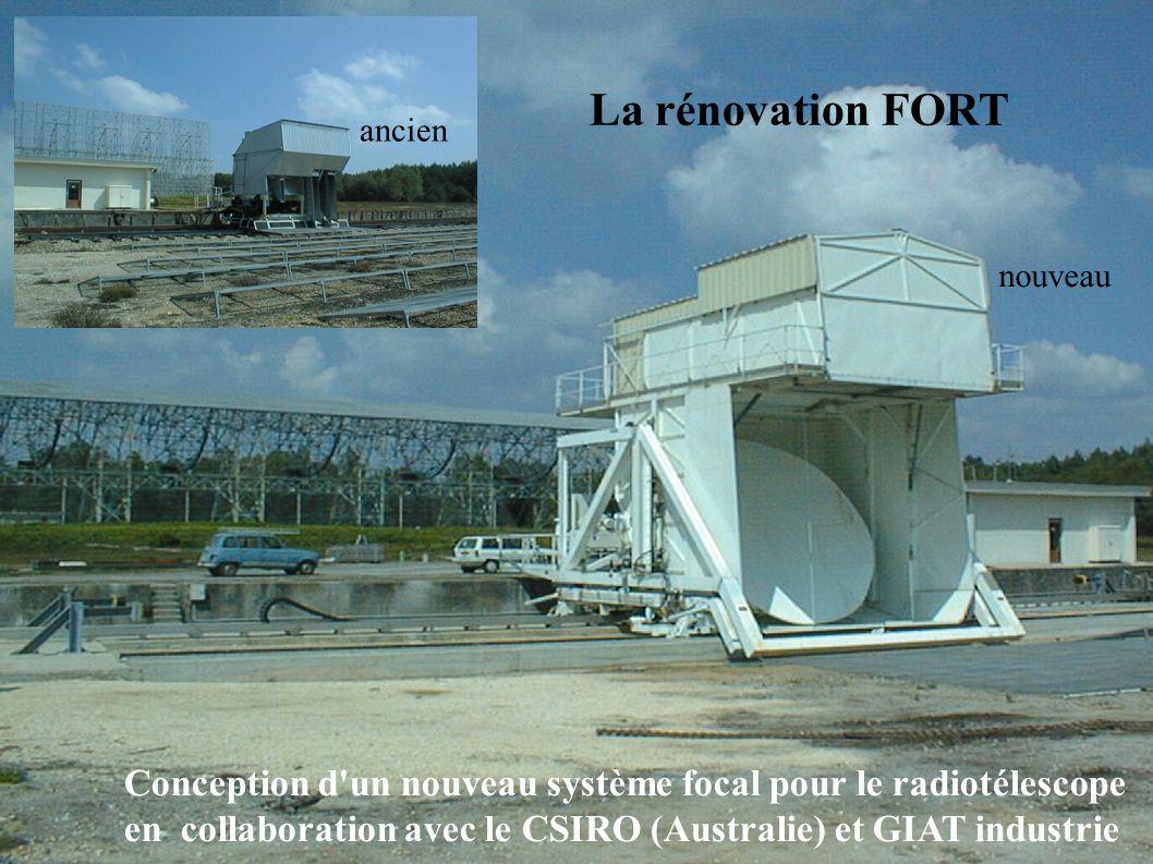 La rénovation FORT Conception d un nouveau système focal pour le radiotélescope en collaboration avec le CSIRO (Australie) et GIAT industrie ancien nouveau