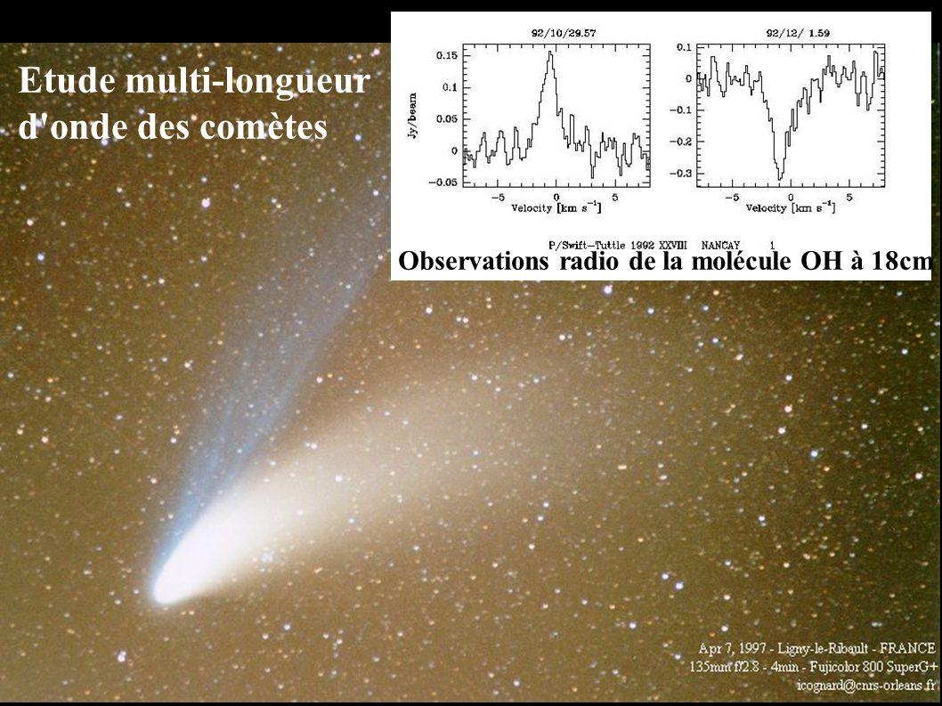 Etude multi-longueur d onde des comètes Observations radio de la molécule OH à 18cm