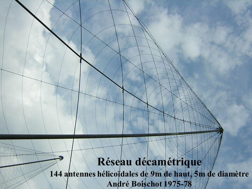 Réseau décamétrique 144 antennes hélicoïdales de 9m de haut, 5m de diamètre André Boischot 1975-78