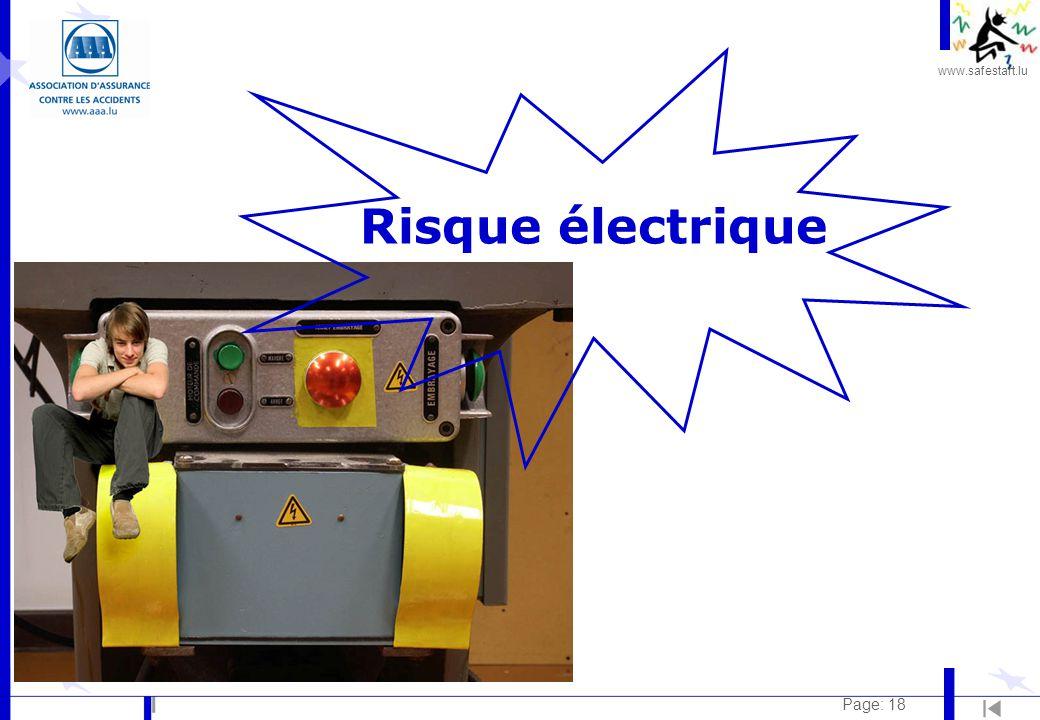 www.safestart.lu Page: 18 Risque électrique