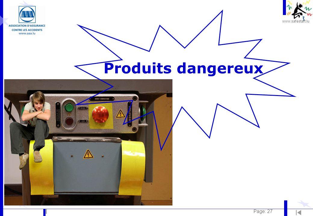 www.safestart.lu Page: 27 Produits dangereux