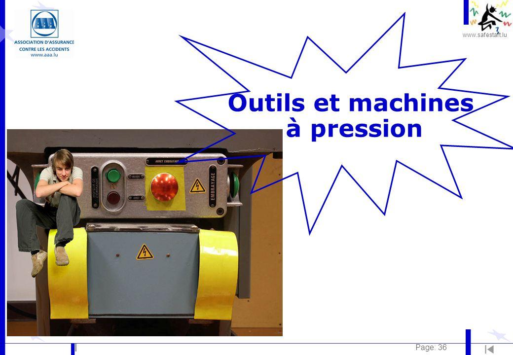 www.safestart.lu Page: 36 Outils et machines à pression