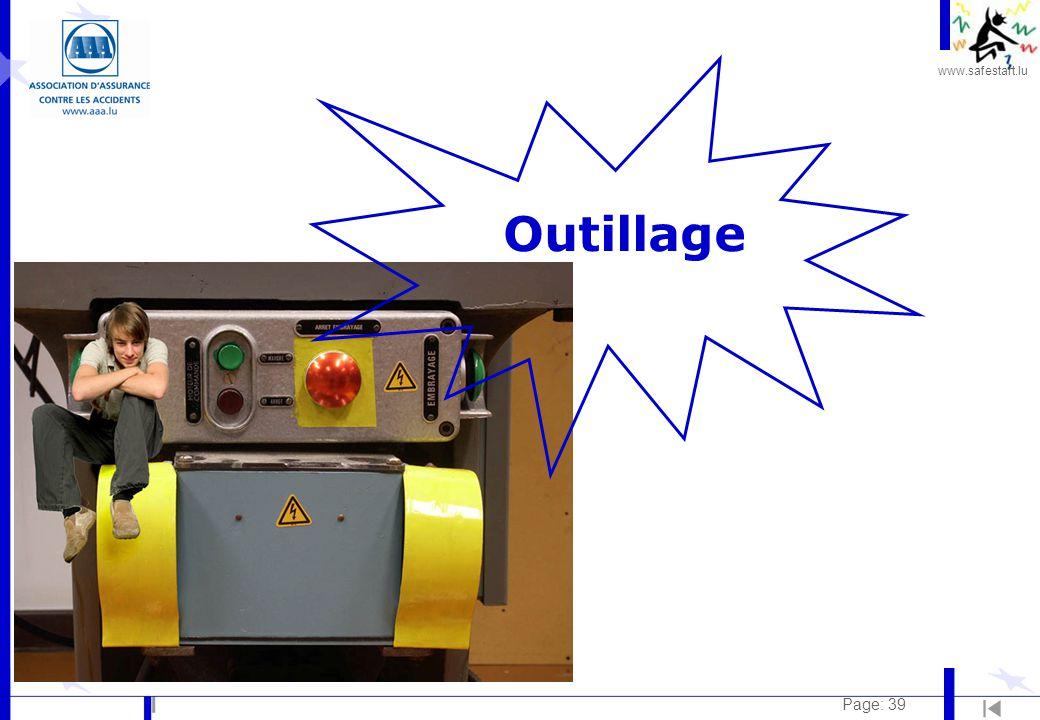 www.safestart.lu Page: 39 Outillage