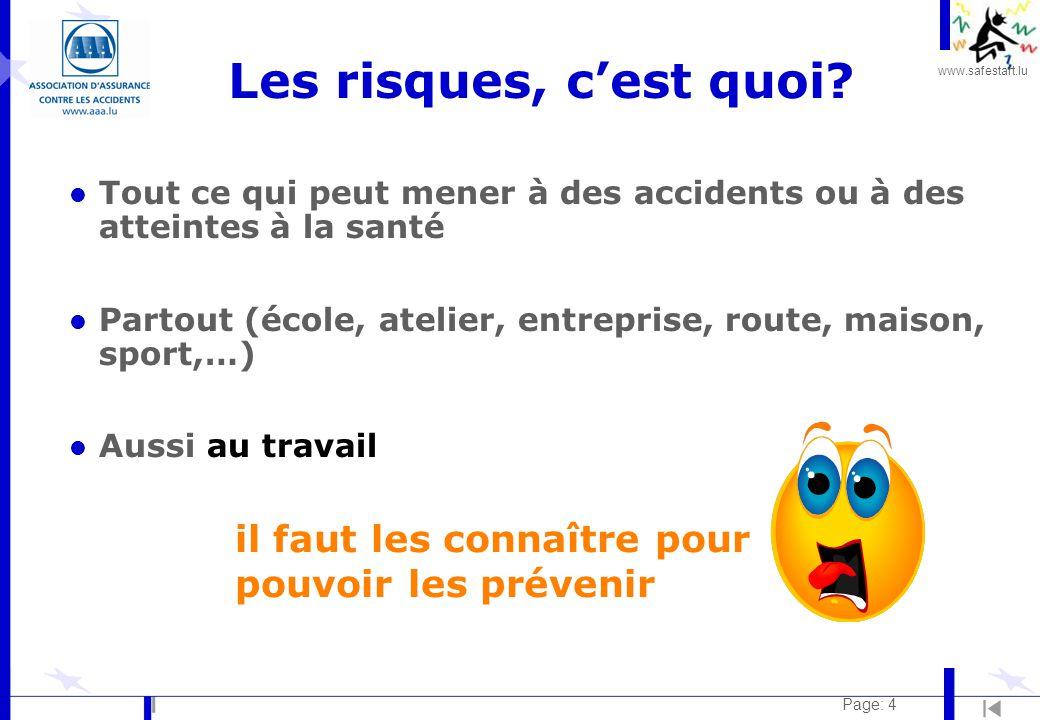 www.safestart.lu Page: 4 Les risques, c'est quoi.
