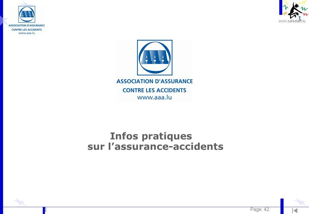 www.safestart.lu Page: 42 Infos pratiques sur l'assurance-accidents