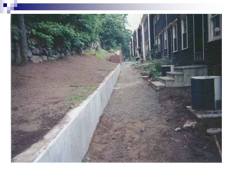 Dimensionnement d'un mur cantilever Hs est connu On trouve hs en calculant le moment maximum au niveau de la semelle largeur sommet du voile <200mm