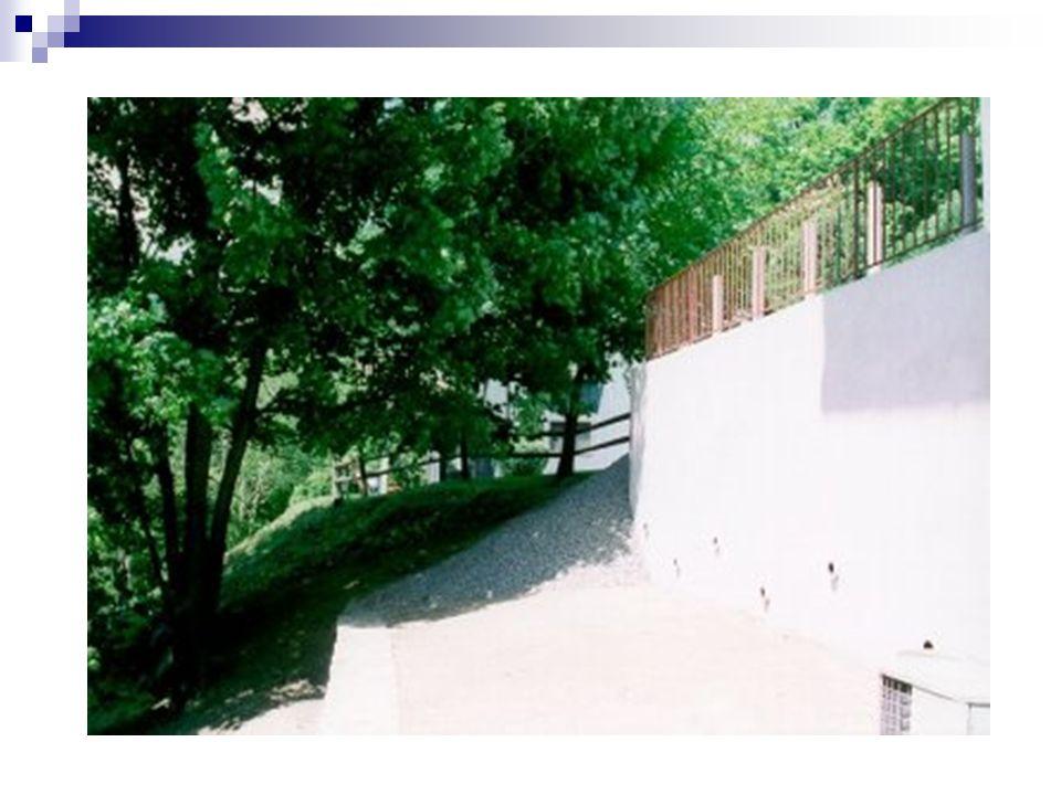Mur cantilever Ce mur profite du poids du remblai sur la semelle et de son propre poids pour s'équilibrer Stem = voile Heel = talon Toe = patin Talon+patin = semelle