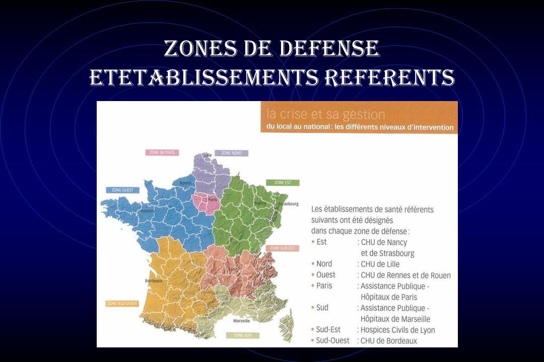 ZONES DE DEFENSE ETETABLISSEMENTS REFERENTS
