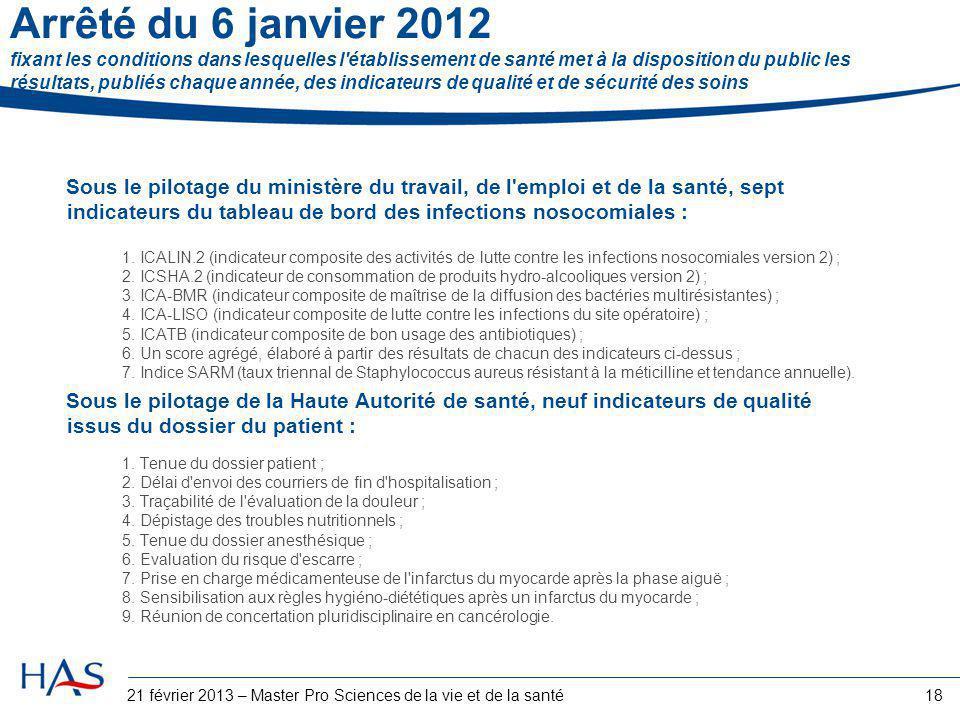 Arrêté du 6 janvier 2012 fixant les conditions dans lesquelles l'établissement de santé met à la disposition du public les résultats, publiés chaque a