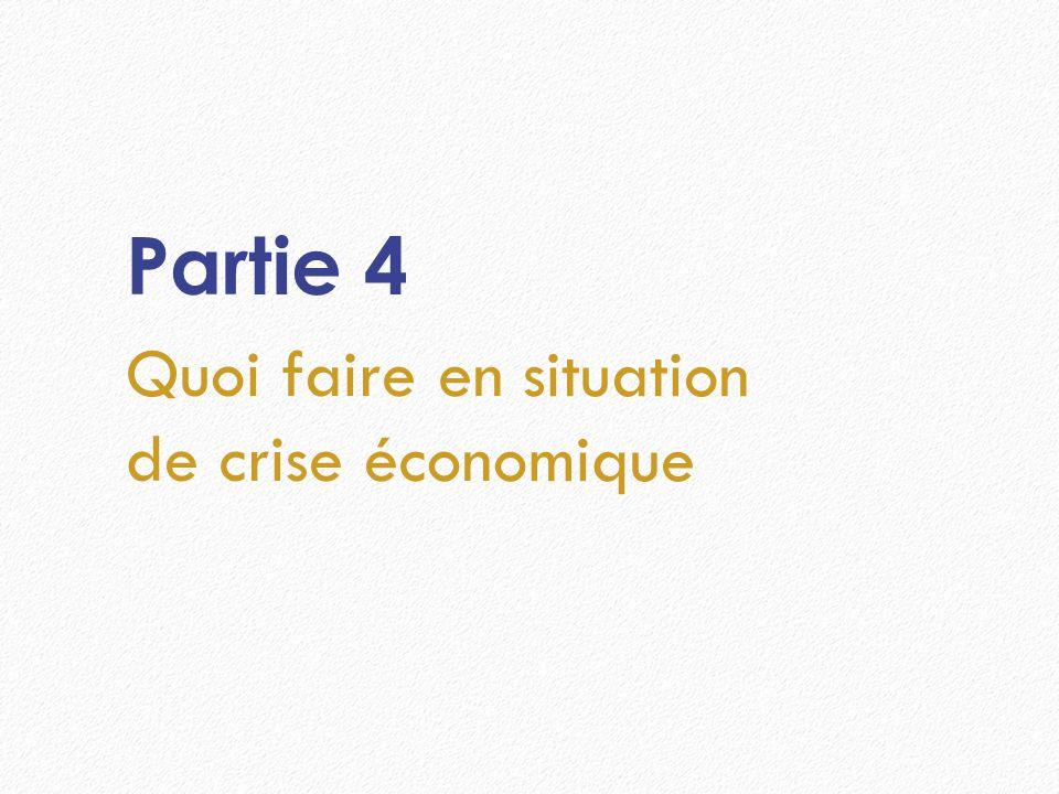 Partie 4 Quoi faire en situation de crise économique