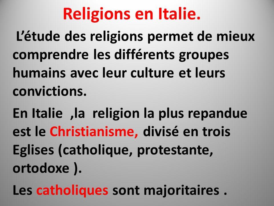 Religions en Italie.