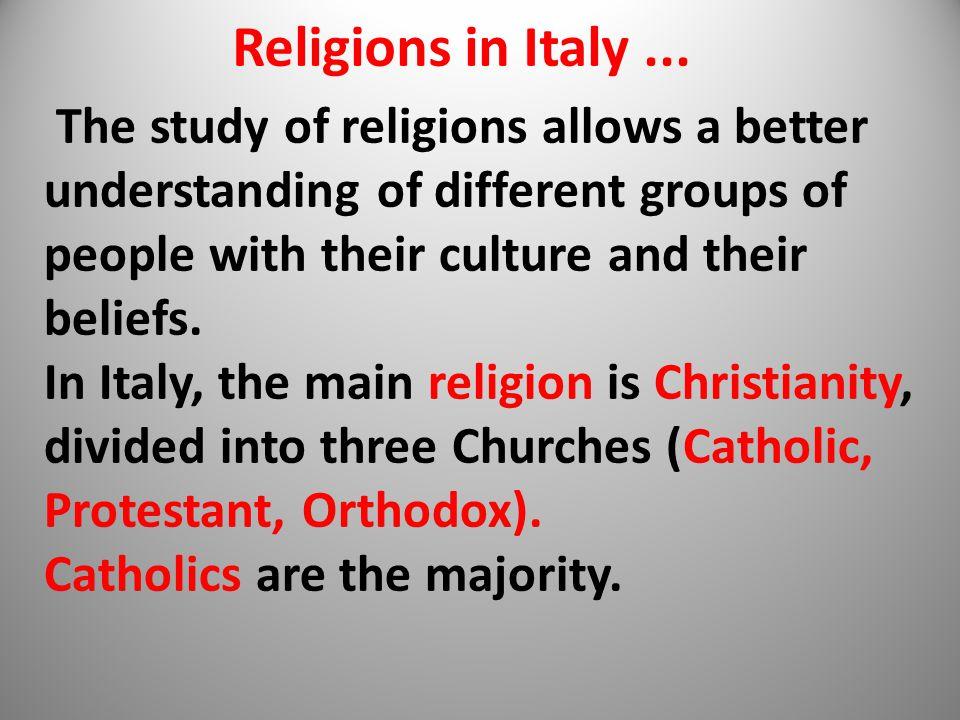 Religions in Italy...