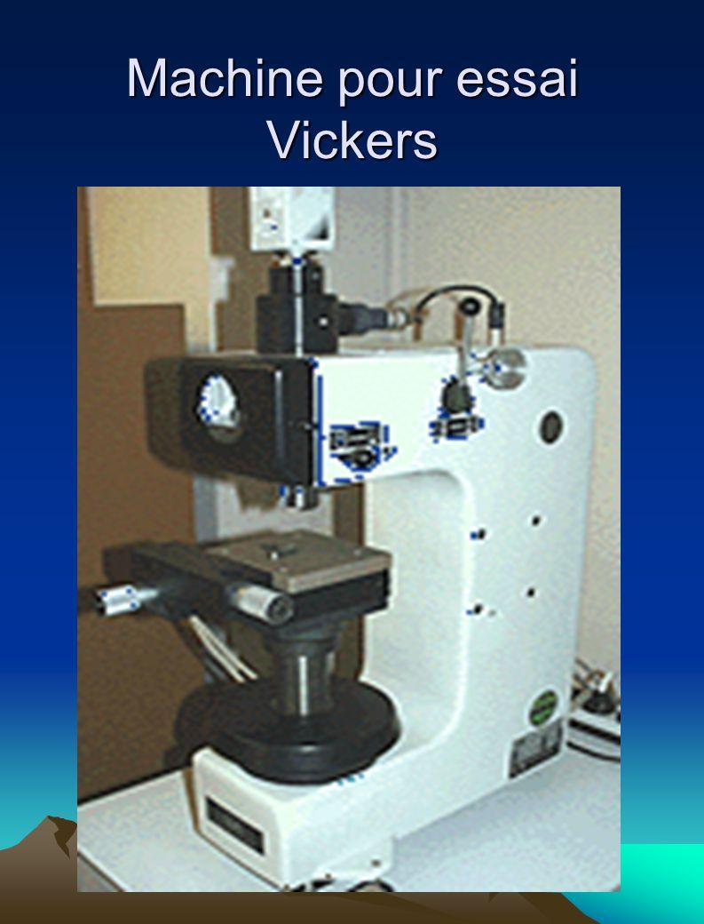Machine pour essai Vickers