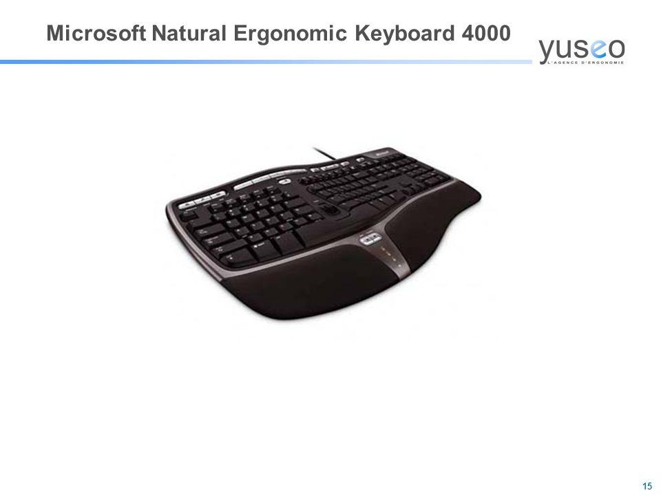 15 Microsoft Natural Ergonomic Keyboard 4000