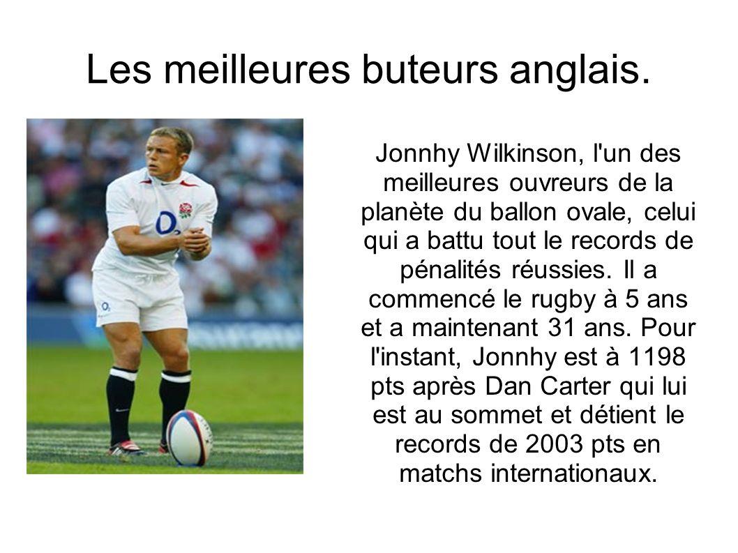 Les meilleures buteurs anglais. Jonnhy Wilkinson, l'un des meilleures ouvreurs de la planète du ballon ovale, celui qui a battu tout le records de pén