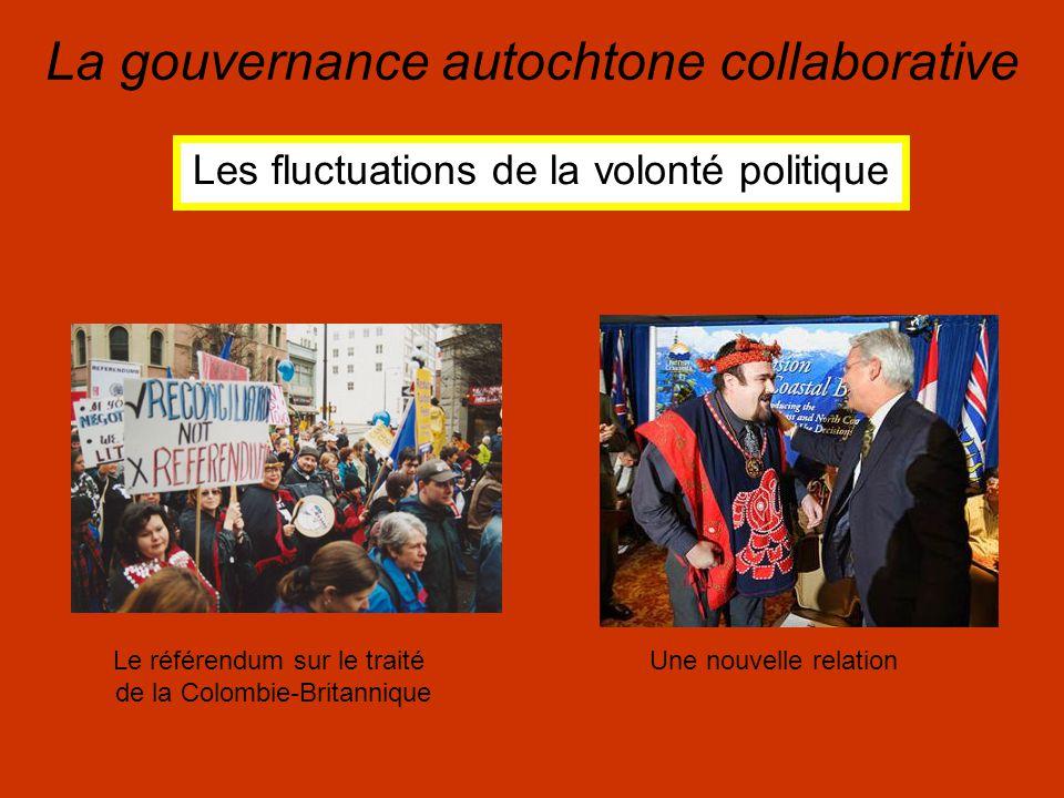 La gouvernance autochtone collaborative Les fluctuations de la volonté politique Le référendum sur le traité de la Colombie-Britannique Une nouvelle relation