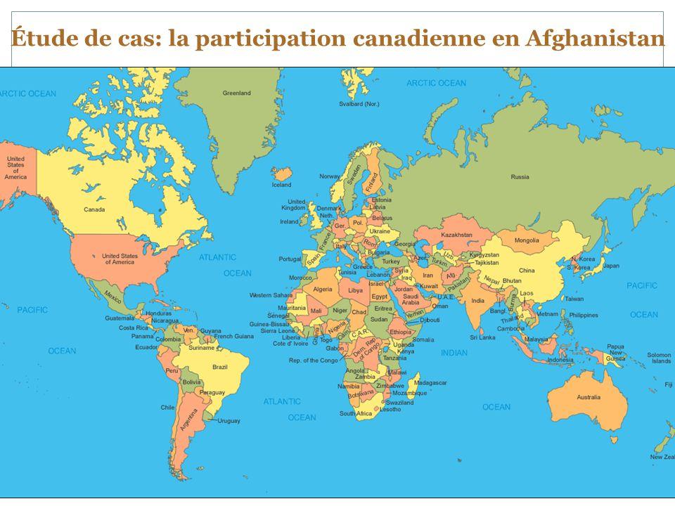 Étude de cas: la participation canadienne en Afghanistan