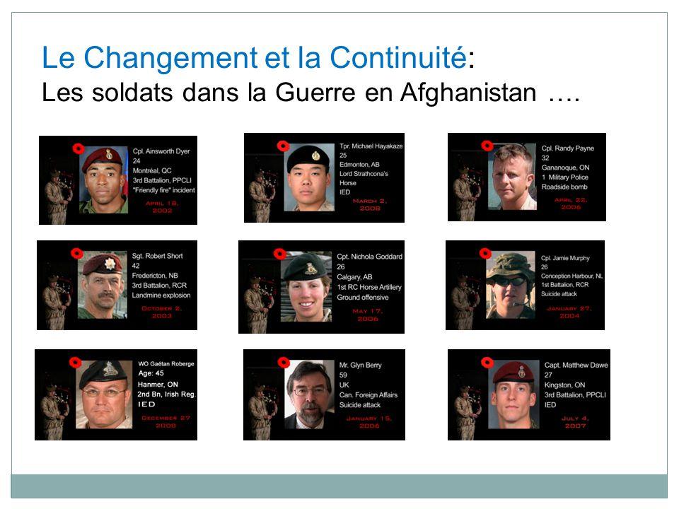 Le Changement et la Continuité: Les soldats dans la Guerre en Afghanistan ….