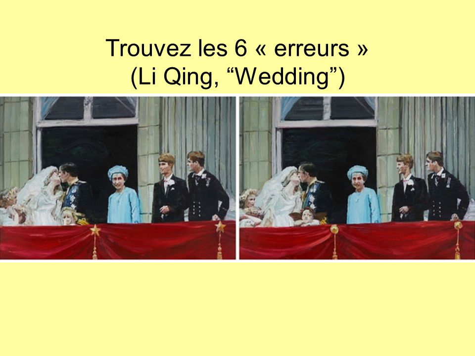 Trouvez les 6 « erreurs » (Li Qing, Wedding )