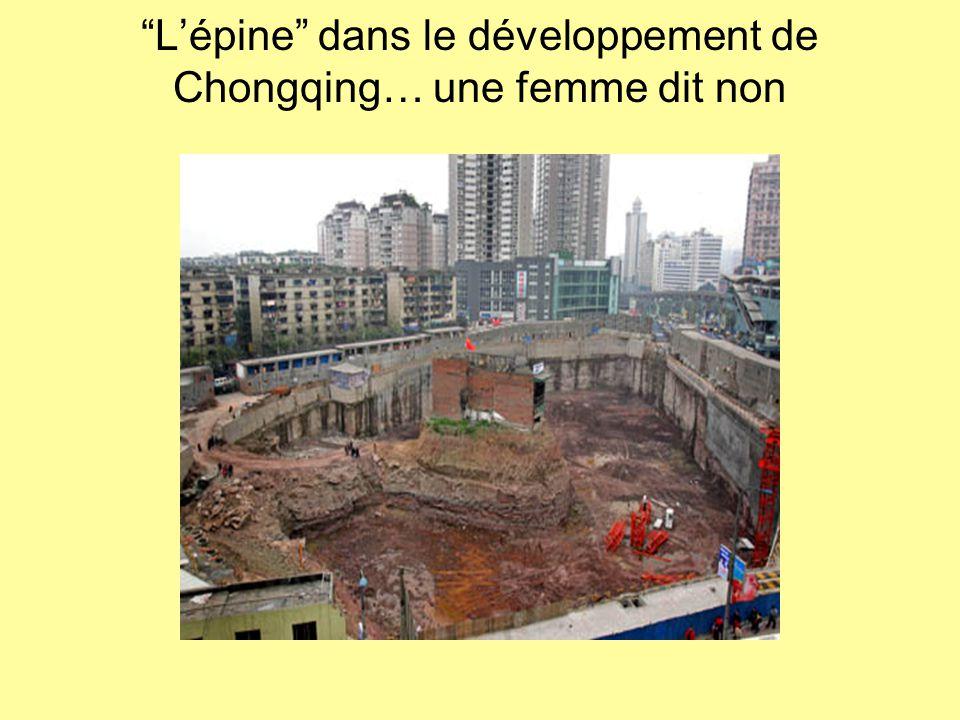 L'épine dans le développement de Chongqing… une femme dit non