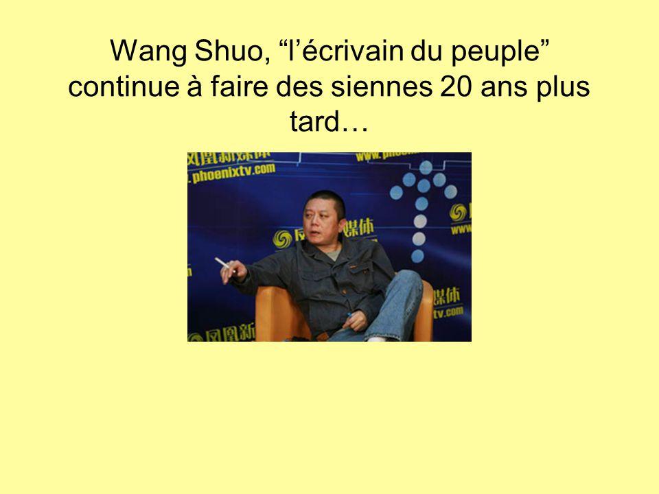 Wang Shuo, l'écrivain du peuple continue à faire des siennes 20 ans plus tard…