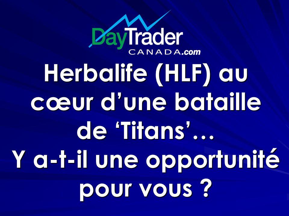 Herbalife (HLF) au cœur d'une bataille de 'Titans'… Y a-t-il une opportunité pour vous