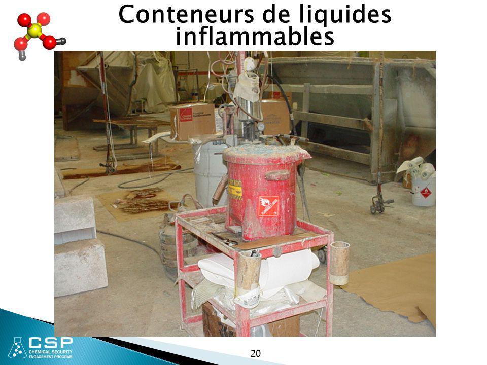 20 Conteneurs de liquides inflammables