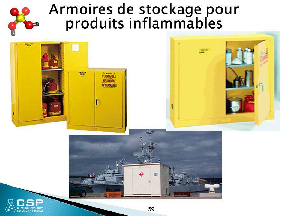 59 Armoires de stockage pour produits inflammables