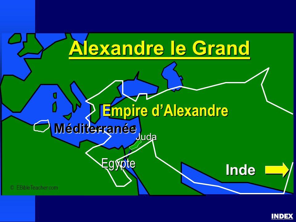 Alexandre le Grand INDEX © EBibleTeacher.com Juda Alexandre le Grand Empire d'Alexandre Inde Méditerranée Egypte