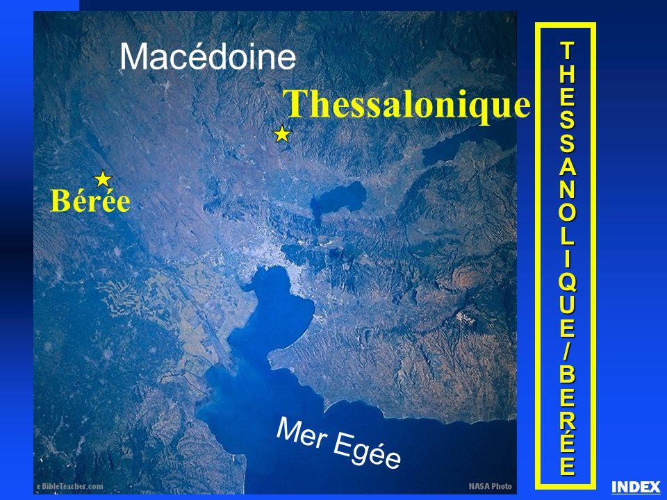 THESSANOLIQUE/BERÉE Thessalonique INDEX Macédoine Mer Egée Thessalonique Bérée