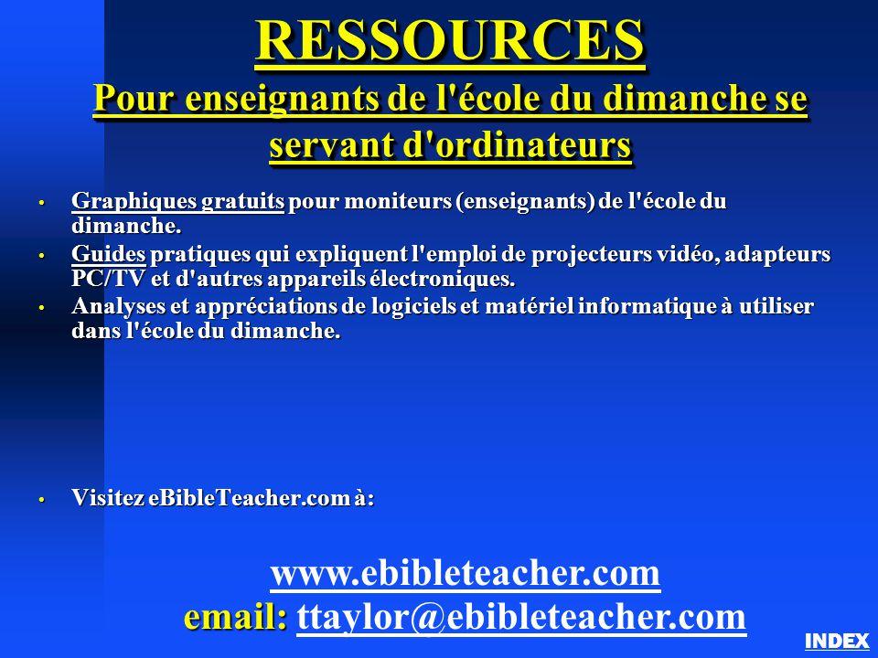 RESSOURCES Pour enseignants de l'école du dimanche se servant d'ordinateurs Graphiques gratuits pour moniteurs (enseignants) de l'école du dimanche. G