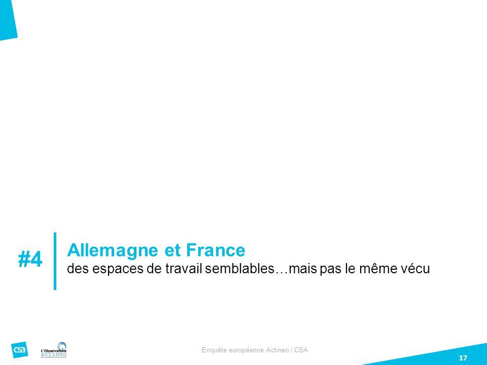 Enquête européenne Actineo / CSA 17 Allemagne et France des espaces de travail semblables…mais pas le même vécu #4