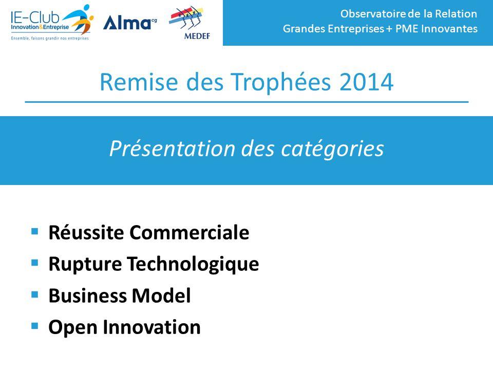 Observatoire de la Relation Grandes Entreprises + PME Innovantes Remise des Trophées 2014  Réussite Commerciale  Rupture Technologique  Business Mo