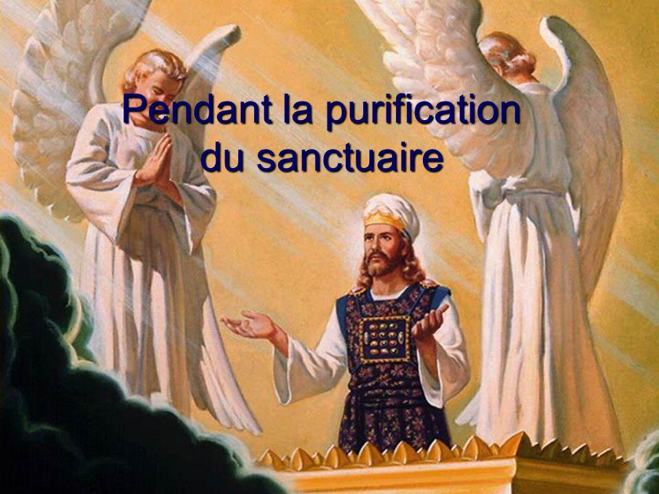 Pendant la purification du sanctuaire