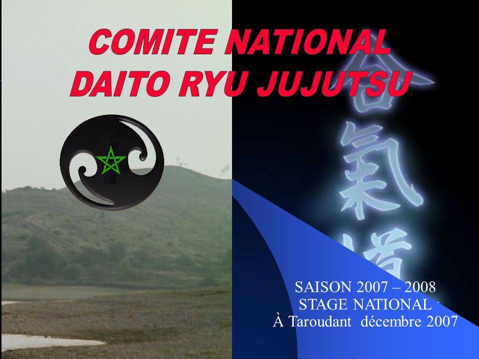 SAISON 2007 – 2008 STAGE NATIONAL À Taroudant décembre 2007