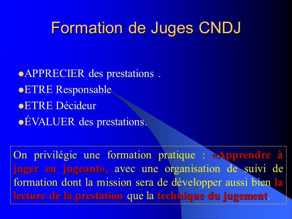 Formation de Juges CNDJ «Apprendre à juger en jugeant», la lecture de la prestationtechnique du jugement On privilégie une formation pratique : «Appre