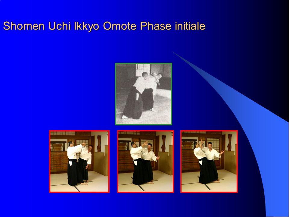 Shomen Uchi Ikkyo Omote Phase initiale