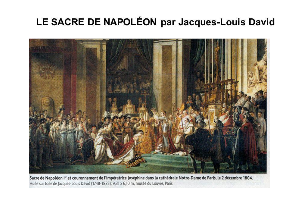 LE SACRE DE NAPOLÉON par Jacques-Louis David