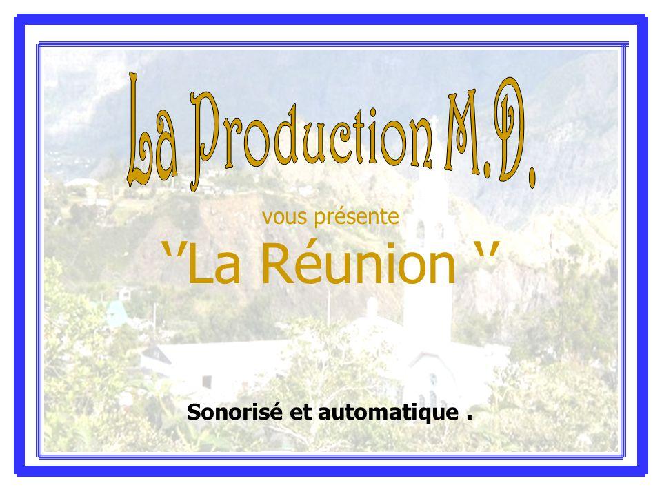 vous présente ''La Réunion '' Sonorisé et automatique.