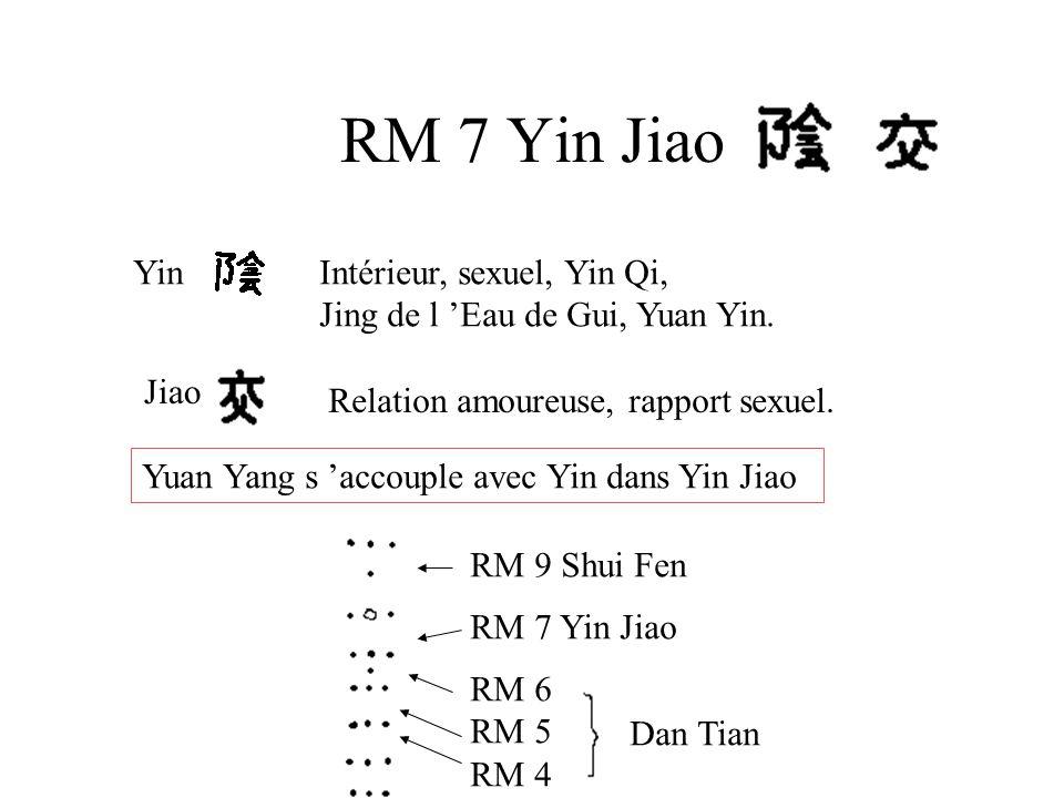 RM 7 Yin Jiao YinIntérieur, sexuel, Yin Qi, Jing de l 'Eau de Gui, Yuan Yin. Jiao Relation amoureuse, rapport sexuel. Yuan Yang s 'accouple avec Yin d