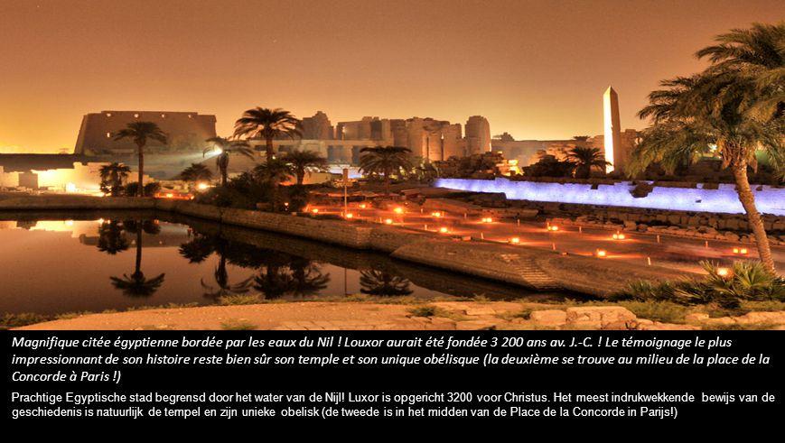 Magnifique citée égyptienne bordée par les eaux du Nil .