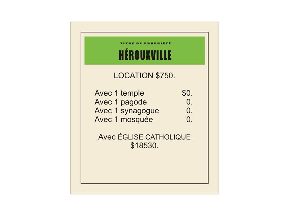 Sans oublier les modifications apportées à certaines cases, sur la planche de jeu, par rapport à la version originale afin d'adapter le jeu à la réalité québécoise…