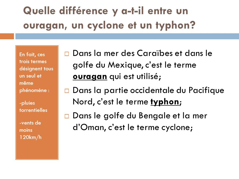 différence entre typhon et ouragan