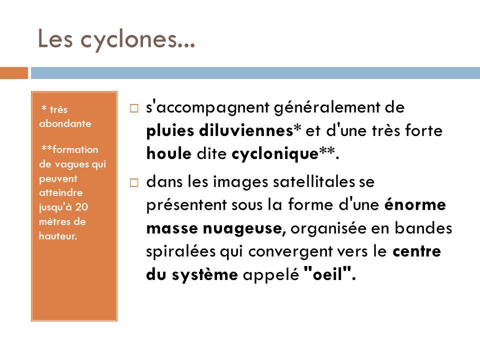 Les cyclones...