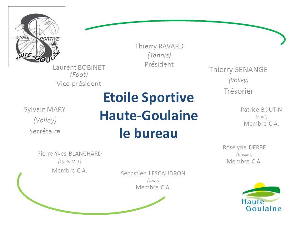 Etoile Sportive Haute-Goulaine le bureau Thierry RAVARD (Tennis) Président Laurent BOBINET (Foot) Vice-président Thierry SENANGE (Volley) Trésorier Sy