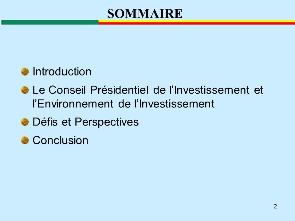 3 INTRODUCTION Quinquennat 2011-2016 est placé sous le signe de développement de l'entreprise privée.