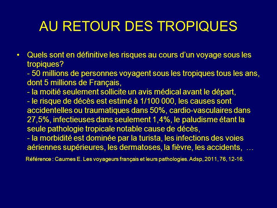 Quels sont en définitive les risques au cours d'un voyage sous les tropiques? - 50 millions de personnes voyagent sous les tropiques tous les ans, don