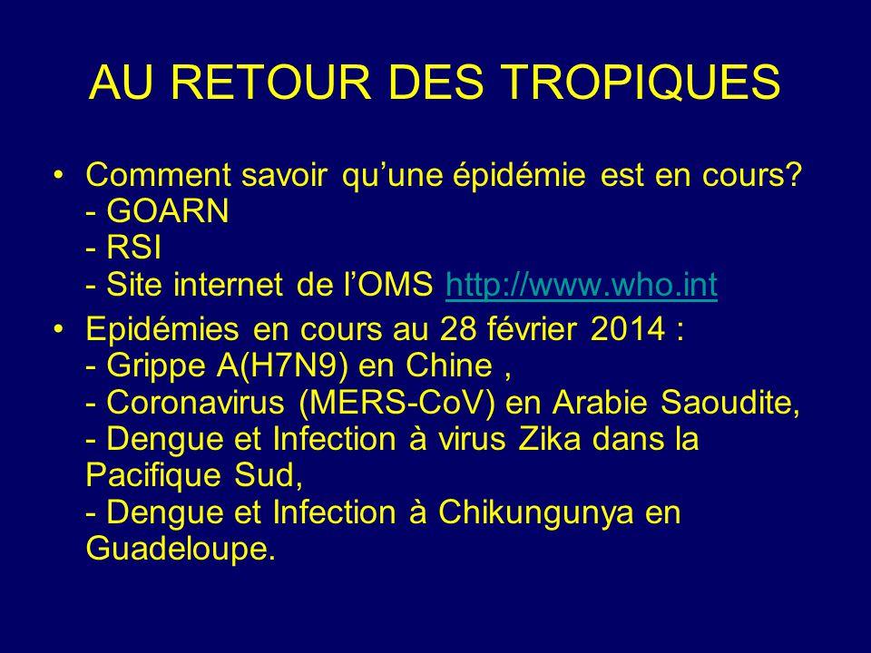 Comment savoir qu'une épidémie est en cours? - GOARN - RSI - Site internet de l'OMS http://www.who.inthttp://www.who.int Epidémies en cours au 28 févr