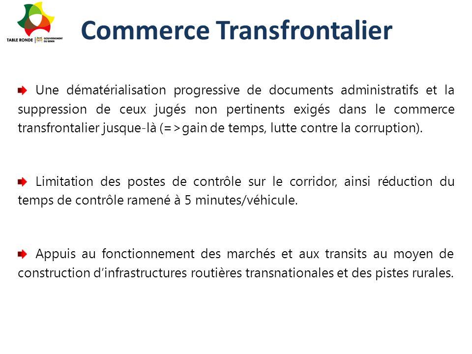 Commerce Transfrontalier Une dématérialisation progressive de documents administratifs et la suppression de ceux jugés non pertinents exigés dans le c