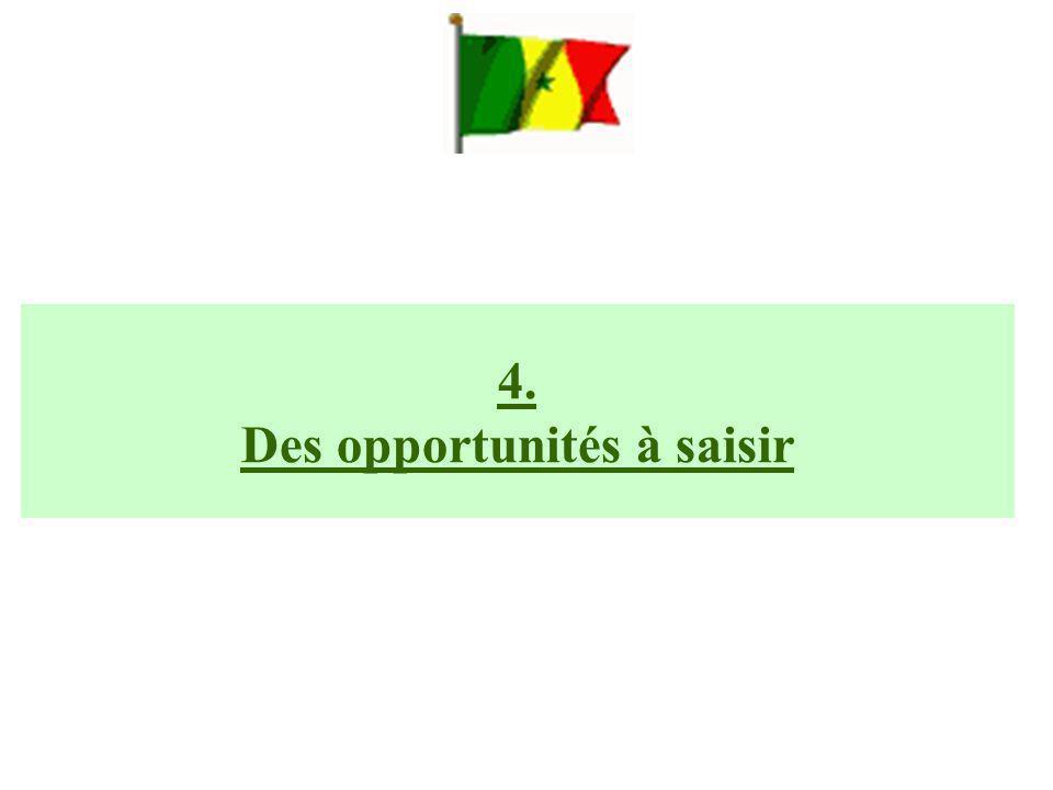4. Des opportunités à saisir